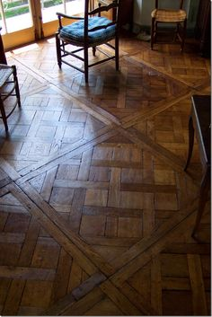 The Parquet de Versailles – this beautiful wood floor is also available at Pavillon Cote Sud.