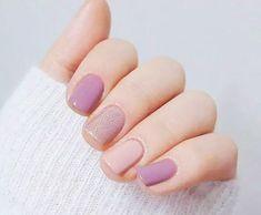 u as color pastel 15 Dise os de u as color pastel Pastel nails Nail designs Nail styles Nail colors Matte Nails, Pink Nails, Gel Nails, Nail Polish, Matte Gel, Nude Nails, Stylish Nails, Trendy Nails, Nail Art Vernis