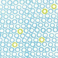 Get a free swatch of Blue circles fabric, geometric retro fabric, blue shapes fabric