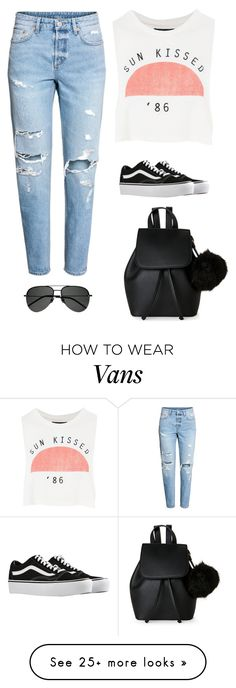 """Untitled #4717"" by twerkinonmaz on Polyvore featuring Topshop, Vans, IMoshion and Yves Saint Laurent"