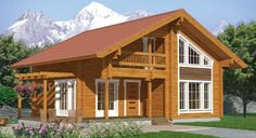 Popular Two Storey Wooden House Villa for Sale Timber House, Wooden House, Style At Home, Porche Chalet, Cottage Porch, Cottage Style Homes, Peaceful Places, Garage House, Dream House Plans