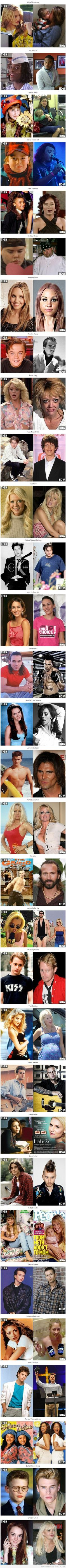 Celebrities THEN vs NOW | Epic LOL - some of these are just... wow.
