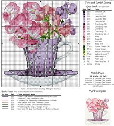 Cross-stitch Pretty Flowers...   Gallery.ru / Photo # 10 - 12 in cups - irisha-ira