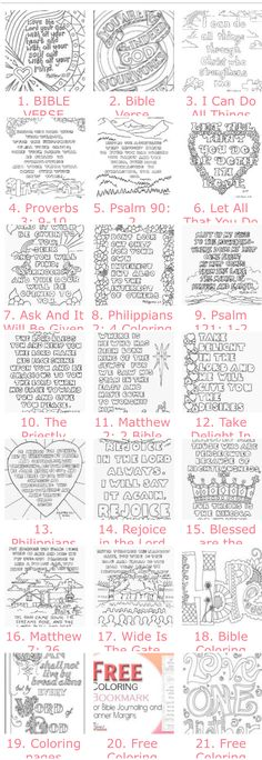 20 Free Adult Bible Coloring Pages (you should see the images on the page but in some browsers it takes a while to load. 20 Free Adult Bible Coloring Pages (you should see the images on the page but in some browsers it takes a while to load. Scripture Study, Bible Art, Bible Quotes, Bible Verses, Craft Quotes, Bible Coloring Pages, Coloring Books, Coloring Sheets, Free Adult Coloring Pages