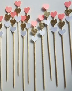 Triple Ombre Heart Coral Gold Custom Color Donut Picks, set of Bachelorette Party, Bridal Shower, Engagement Party, Valentine's Decor Diy Cake Topper, Birthday Cake Toppers, Cupcake Toppers, Valentine Decorations, Birthday Decorations, Birthday Diy, Birthday Gifts, Diy For Kids, Crafts For Kids