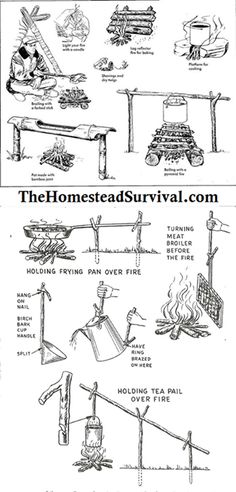 How To Build A Fire & Cook Over It...from a 1955 training manual from the Department of the Air Force.