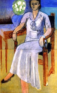 Woman in a White Dress / Henri Matisse - 1933-1934