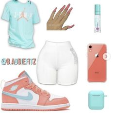 Nike Outfits, Cute Lazy Outfits, Baddie Outfits Casual, Swag Outfits For Girls, Teenage Girl Outfits, Cute Swag Outfits, Girls Fashion Clothes, Teen Fashion Outfits, Girly Outfits