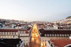 View from the Rua Augusta Arch, Lisbon. Lisbon, Paris Skyline, Portugal, Arch, Europe, Photography, Travel, Longbow, Photograph