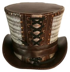 SDL - Gothic Mad Hatter Top Hat - Musical Notes