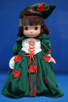 "Snow White Christmas Magic 12"" Vinyl Doll Disney Precious Moments 8222 Signed #PreciousMoments #Dolls"