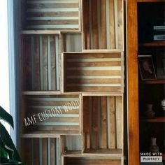 Cajón de estantería inspirada 8pc por amfcustomwood en Etsy