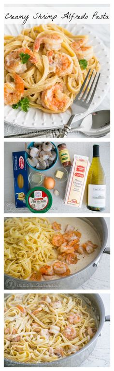 Creamy Shrimp Alfredo Pasta.   Pin now, enjoy later!