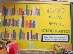 """""""1000 Books Before Kindergarten"""" - Fall 2013 - by Margaret Mennone   (Also,this program sounds like a great idea!)"""