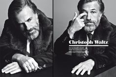 Christoph Waltz pour Vogue IT Christoph Waltz, Beautiful Men, Beautiful People, Man Of Mystery, Mens Fur, Merian, Male Photography, Music Tv, Lady And Gentlemen