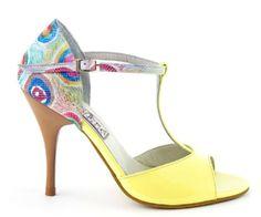Tanguera :: Yellow Summer Tango Dress, Tango Dance, Tango Shoes, Dancing Shoes, Latin Shoes, High Heels, Shoes Heels, Me Too Shoes, Sandals