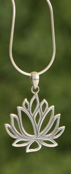 Sterling Silver Lotus Pendant                                                                                                                                                                                 More