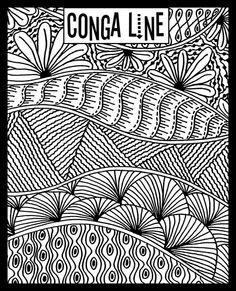 Conga Line - Helen Breil Texture Stamps found @ AntelopeBeads.com