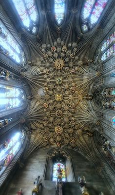 The Thistle Chapel in St Giles' Cathedral in Edinburgh is the chapel of The Most Ancient and Most Noble Order of the Thistle, Scotland's foremost Order of Chivalry