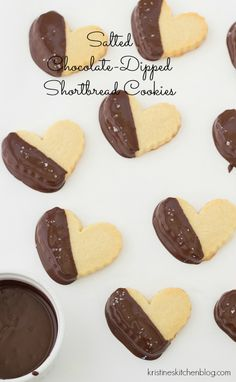 Salted Chocolate-Dipped Shortbread Cookies | Kristine's Kitchen