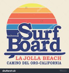 Surf sport typography, t-shirt graphics, vectors