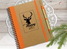 Deer Notebook To Do List Notebook Happy New Year by LooveMyArt