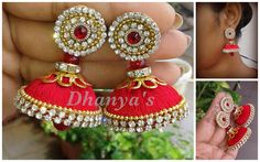 Dhanya's......: silk thread jhumka