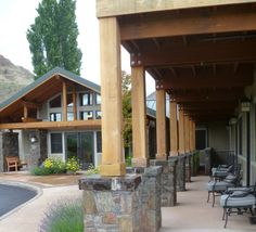 Canyon View Lodge Rustic Covered Porch