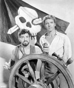 Nick Cravat, Burt Lancaster-- The Crimson Pirate 1952