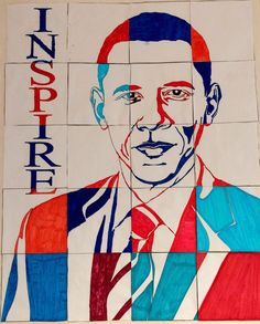 Inspire your students during Black History Month & Presidents' Day lessons with a large collaboration group poster of President Obama. Each kid gets to color one piece and when put together this stunning poster of our first black president.