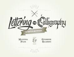 lettering VS calligraphie