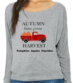 Autumn Harvest Fall Long Sleeve Shirt, Free Shipping, Gift for her, Pumpkins apples and hayrides by RightSideOutShirts on Etsy Autumn Harvest, Autumn Fall, Off Shoulder T Shirt, Image Chart, Dye Shirt, Great Birthday Gifts, Fall Shirts, Order Prints, Pumpkins