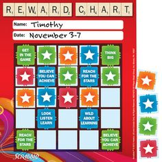 Cherry rewards chart for kids | Charts & graphics | Pinterest | To ...