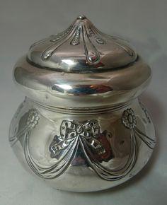 Edwardian Silver Tea Caddy William Comyns London 1902 149g A591816   eBay