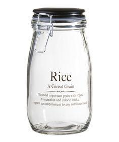 Look what I found on #zulily! 'Rice' 51-Oz. Storage Jar #zulilyfinds
