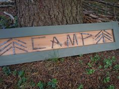 Camp Decor Camp Sign Gift For Him Adirondack Rustic by harburyhill, $47.00