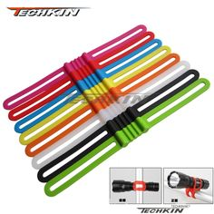 Factory production 21411N silicone band/TECHKIN Bike Stands/high elastic silicone/ TT lights/Strapping Tools