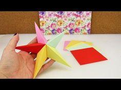 Origami Stern aus 5 Elementen | 3D Stern falten | Weihnachtsdeko selber machen | DIY Origami - YouTube
