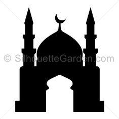 New Silhouettes: Mosque, Moth, Mountain, and Skyline Silhouette, Silhouette Clip Art, Ramadan Cards, Eid Cards, Mosque Silhouette, Building Silhouette, Ramadan Activities, Ramadan Decorations, Islamic Art