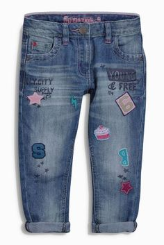 Buy Badge Detail Jeans (3-16yrs) online today at Next: United States of America