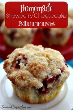 Homemade Strawberry Cheesecake Muffins Recipe!