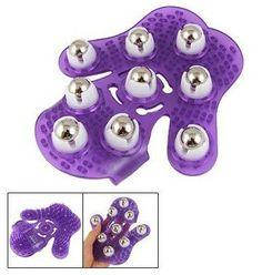 Guante de masaje.Coco Digital - Guante de masaje con bolas metálicas para todo el cuerpo