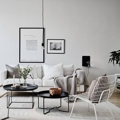 Modern Scandinavian Living Room To Best Interior Design 49 home My Living Room, Home And Living, Living Room Decor, Living Spaces, Clean Living, Modern Living, Living Area, Bauhaus Interior, Room Interior