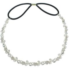 eFuture(TM) Silver Stylish Fashion Women Rhinestone Crystal Elastic... ❤ liked on Polyvore featuring accessories, hair accessories, silver flower headband, elastic headbands, headband hair accessories, rhinestone headbands and rhinestone flower headband