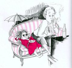 Illustration by Hilary Knight for Eloise by Kay Thompson.