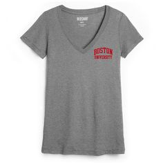 Red Shirt Womens Short Sleeve Vneck Tee