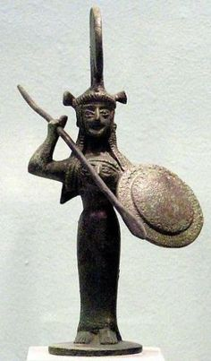 Bronze figure of Athena - from the sanctuary of Athena at Tegea, circa 550 BCE; Ancient Greek Sculpture, Ancient Art, Ancient History, Art History, Archaic Greece, Ancient Greece, Mycenaean, Minoan, Ancient Greek Clothing
