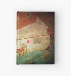 'going places' Hardcover Journal by Clare Colins Old Suitcases, Blank Page, Journal Design, Sell Your Art, Artists, Paper, Unique, Painting, Products