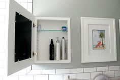 Make Over Your Bath With A Diy Medicine Cabinet: The Power Of Paint