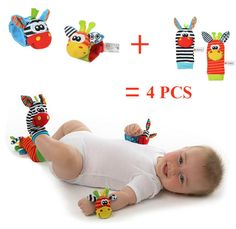 ANIMAL BABY INFANTS FOOT SOCK AND WRIST RATTLES - OFFER